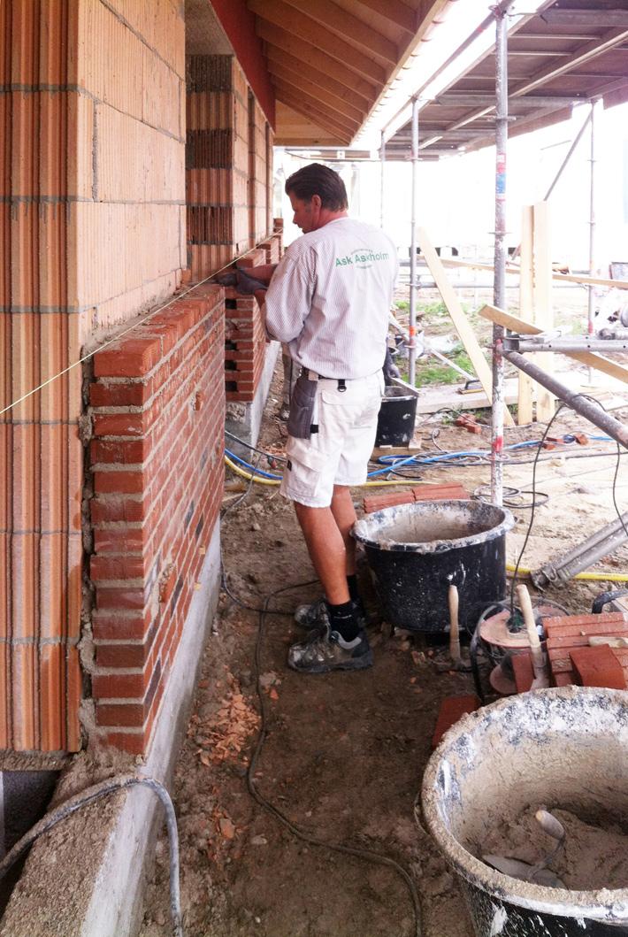Bonded brick | Homogeneous massive wall construction