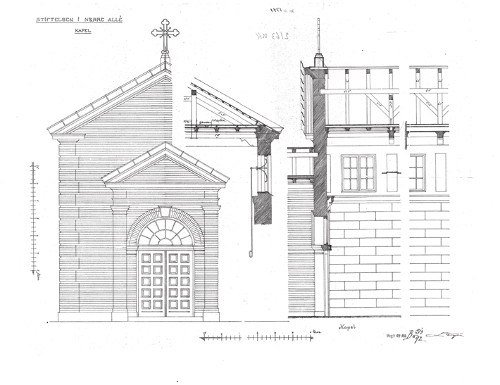 The Elephant House - facade and section