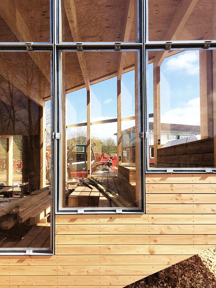 ByNaturrum Myretuen, byggepladsfoto. Foto: LETH & GORI