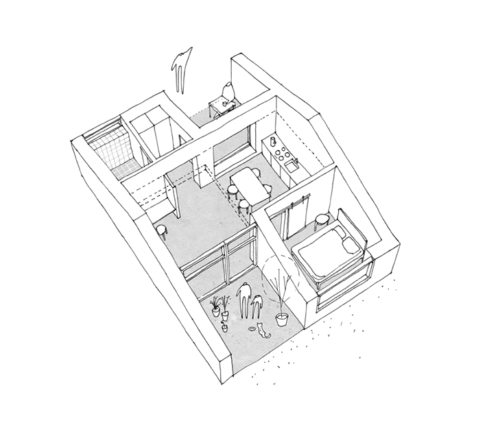 Axonometric view House Type B