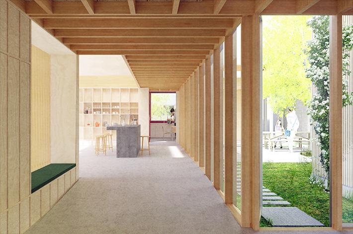Interiør - café/ indgang